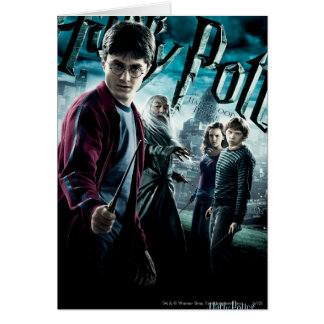 Harry Potter con Dumbledore Ron y Hermione 1 Tarjeta De Felicitación