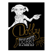 Harry Potter | Dobby Has No Master Postcard