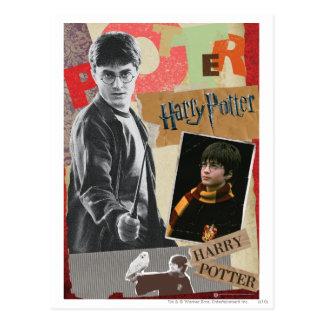 Harry Potter entonces y ahora Tarjeta Postal