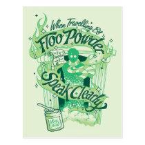Harry Potter   Floo Powder Typography Graphic Postcard
