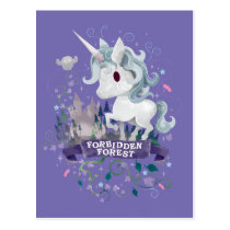 Harry Potter   Forbidden Forest Unicorn Graphic Postcard