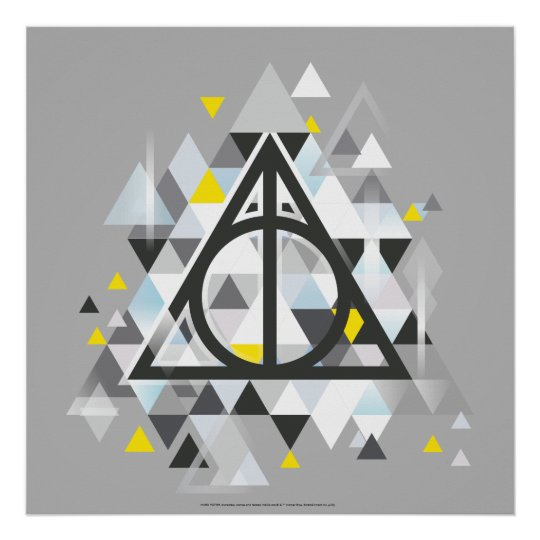 Harry Potter Geometric Deathly Hallows Symbol Poster Zazzle
