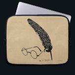 "Harry Potter | Glasses And Quill Laptop Sleeve<br><div class=""desc"">Are you loony for Luna or potty for Potter? Then feast your eyes on this awesome design! Show the world that you are a Potter fan through and through with this magical illustration of Harry Potter&#39;s signature glasses and feather quill. Official Harry Potter merchandise with the most famous of children&#39;s...</div>"