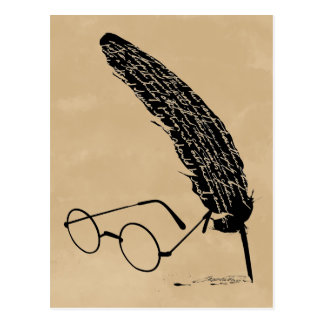 HARRY POTTER™ Glasses And Quill Postcard
