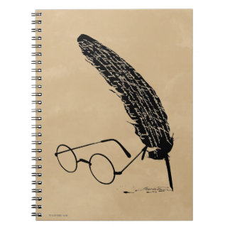 Harry Potter | Glasses And Quill Spiral Notebook