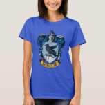"""Harry Potter    Gothic Ravenclaw Crest T-Shirt<br><div class=""""desc"""">Showcasing the iconic Ravenclaw crest, the wise raven and blue gothic background make this vintage style graphic a perfect companion for fans of the smash hit Harry Potter series! Only the cleverest witches and wizards are housed in Ravenclaw. This design offers the perfect opportunity to show the world which Hogwarts...</div>"""