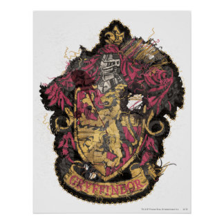 Harry Potter | Gryffindor Crest - Destroyed Poster