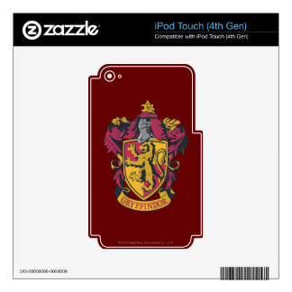 Harry Potter   Gryffindor Crest Gold and Red Decals For iPod Touch 4G