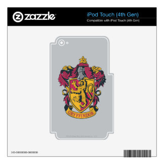 Harry Potter   Gryffindor Crest Gold and Red iPod Touch 4G Skin