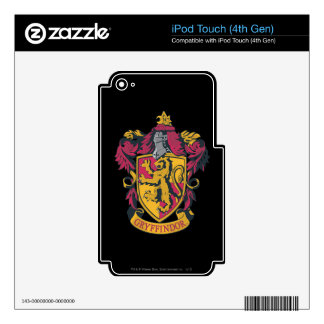 Harry Potter   Gryffindor Crest Gold and Red iPod Touch 4G Skins