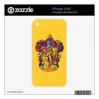 Harry Potter   Gryffindor Crest Gold and Red Skin For iPhone 4