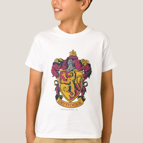 Harry Potter  Gryffindor Crest Gold and Red T_Shirt