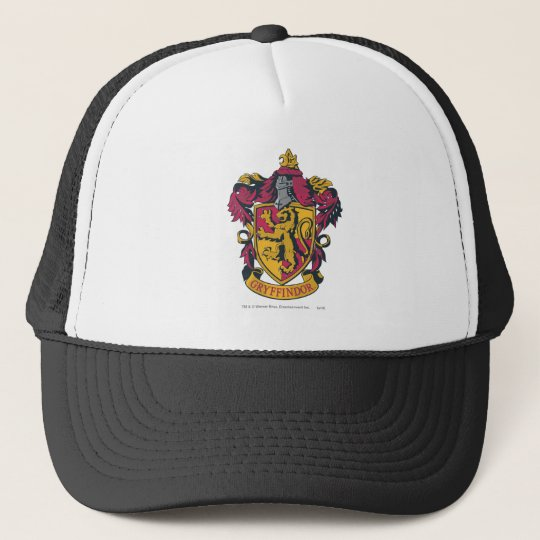 pretty nice b350b dc261 Harry Potter   Gryffindor Crest Gold and Red Trucker Hat