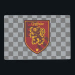 "Harry Potter | Gryffindor House Pride Crest Placemat<br><div class=""desc"">Attention all proud Gryffindors! This graphic design depicting the brave Gryffindor lion, offers the perfect opportunity to show your support for Hogwarts favorite house! Representing some of the world's most famous wizards such as Harry Potter and Albus Dumbledore, Gryffindor houses only the bravest most daring wizards and witches! This cool,...</div>"