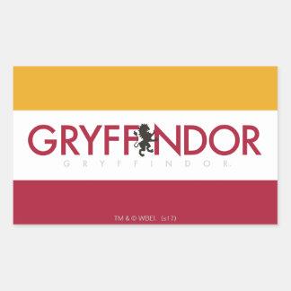Harry Potter | Gryffindor House Pride Crest Rectangular Sticker