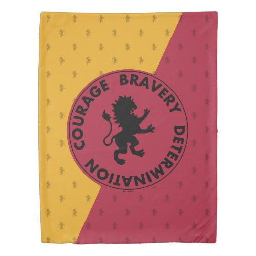 Harry Potter | GRYFFINDOR™ House Traits Graphic Duvet Cover