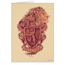 Harry Potter   Gryffindor Lion Crest Card