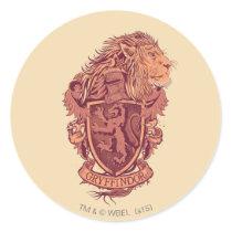 Harry Potter   Gryffindor Lion Crest Classic Round Sticker