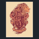 "Harry Potter | Gryffindor Lion Crest Postcard<br><div class=""desc"">Attention all proud Gryffindors! This graphic design depicting the brave Gryffindor lion, offers the perfect opportunity to show your support for Hogwarts favorite house! Representing some of the world's most famous wizards such as Harry Potter and Albus Dumbledore, Gryffindor houses only the bravest most daring wizards and witches! This cool,...</div>"