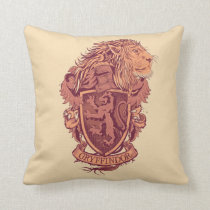 Harry Potter | Gryffindor Lion Crest Throw Pillow