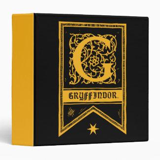 Harry Potter | Gryffindor Monogram Banner 3 Ring Binder