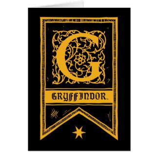Harry Potter | Gryffindor Monogram Banner Card