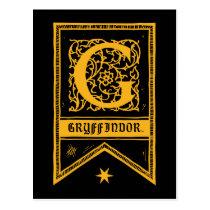 Harry Potter   Gryffindor Monogram Banner Postcard