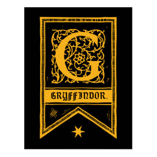 Harry Potter | Gryffindor Monogram Banner Postcard