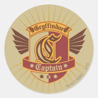 Harry Potter | Gryffindor QUIDDITCH� Captain Emble Classic Round Sticker