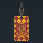 """Harry Potter   Gryffindor QUIDDITCH™  Crest Luggage Tag<br><div class=""""desc"""">Represent the bravest of the Hogwarts houses with this vintage design from the world of Harry Potter. A classic tartan that&#39;s Quidditch themed, complete with broomsticks and that wondrous golden snitch. Inspired by the hit kid's series and the mind of J.K. Rowling, this colorful, checkered pattern represents all the values...</div>"""