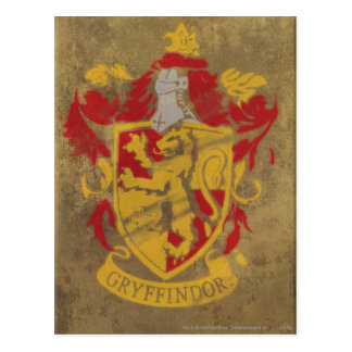 Harry Potter | Gryffindor - Retro House Crest Postcard