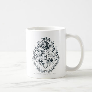 Harry Potter | Hogwarts Crest - Black and White Coffee Mug