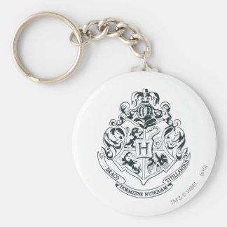 Harry Potter | Hogwarts Crest - Black and White Keychain