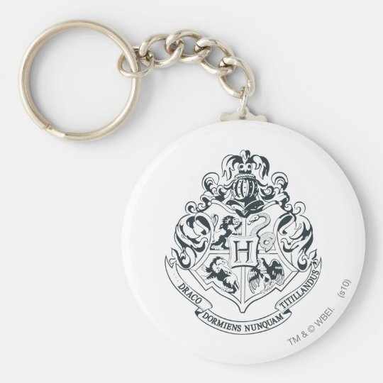 Harry Potter | Hogwarts Crest - Black and White Keychain