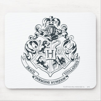 Harry Potter | Hogwarts Crest - Black and White Mouse Pad