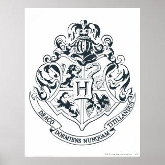 Harry Potter | Hogwarts Crest - Black and White Poster