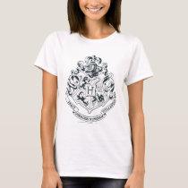 Harry Potter   Hogwarts Crest - Black and White T-Shirt