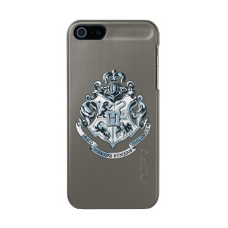 Harry Potter | Hogwarts Crest - Blue Metallic Phone Case For iPhone SE/5/5s
