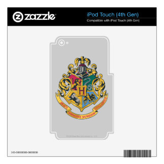 Harry Potter   Hogwarts Crest - Full Color iPod Touch 4G Decals