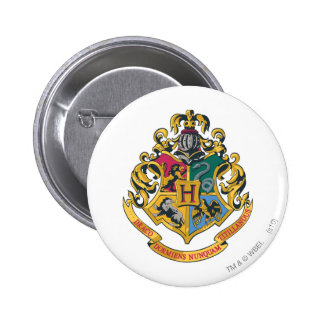 Harry Potter   Hogwarts Crest - Full Color Pinback Button