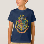 """Harry Potter   Hogwarts Crest - Full Color T-Shirt<br><div class=""""desc"""">Ever dream of being in Gryffindor? Wish you could be in Ravenclaw? What about sorting into Slytherin or Hufflepuff? Even we everyday Muggles can be part of the magic of Harry Potter with this colorful crest design from Hogwarts. Inspired by the J.K. Rowling kids series, embrace the magic within and...</div>"""