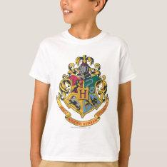 Harry Potter   Hogwarts Crest - Full Color T-shirt at Zazzle