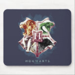 "Harry Potter | HOGWARTS™ Crest Watercolor Mouse Pad<br><div class=""desc"">Check out this watercolor Hogwarts Crest graphic,  featuring the four House Animals leaping out of each quadrant.</div>"