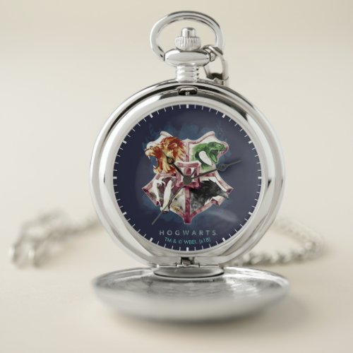 Harry Potter | HOGWARTS™ Crest Watercolor Pocket Watch