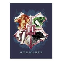 Harry Potter   HOGWARTS™ Crest Watercolor Postcard