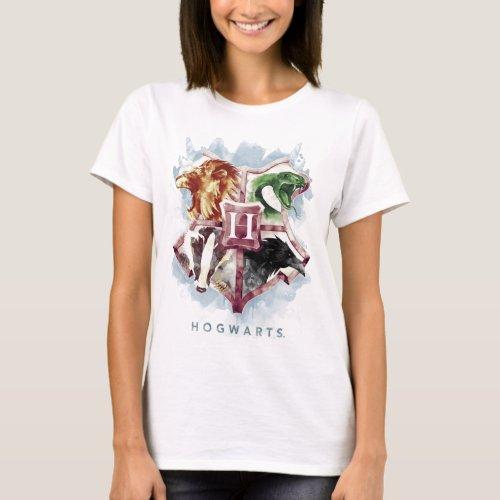Harry Potter  HOGWARTSâ Crest Watercolor T_Shirt