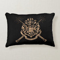 Harry Potter   Hogwarts Crossed Wands Crest Accent Pillow