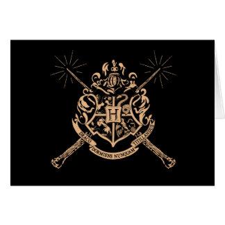Harry Potter | Hogwarts Crossed Wands Crest Card