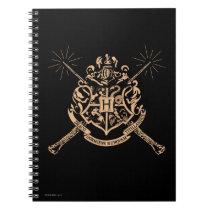 Harry Potter   Hogwarts Crossed Wands Crest Notebook