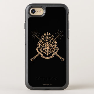 Harry Potter | Hogwarts Crossed Wands Crest OtterBox Symmetry iPhone 7 Case